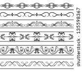 vector vintage borders set | Shutterstock .eps vector #135598367