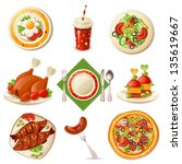food set | Shutterstock .eps vector #135619667