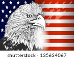 National Symbol Of Usa Flag An...