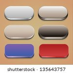 set of web buttons. eps10. | Shutterstock .eps vector #135643757