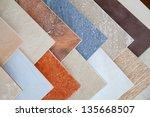 Samples Of A Ceramic Tile In...