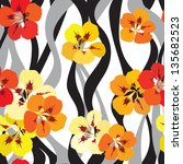 floral seamless background.... | Shutterstock .eps vector #135682523