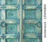 Wood Door Green Color