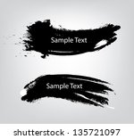 Sample text on vector brush - stock vector
