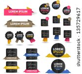labels and stickers   set  ... | Shutterstock .eps vector #135729617