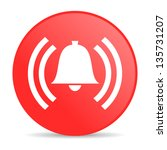 alarm red circle web glossy icon | Shutterstock . vector #135731207