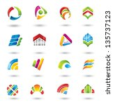 design elements.   collection... | Shutterstock .eps vector #135737123