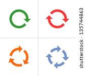 4 arrow pictogram refresh ... | Shutterstock . vector #135744863