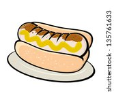german bratwurst illustration   Shutterstock .eps vector #135761633