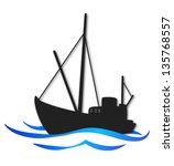 design for business  fishing...   Shutterstock . vector #135768557
