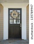 front door of an upscale home... | Shutterstock . vector #135789947