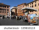 rome  italy   april 3  ...   Shutterstock . vector #135810113