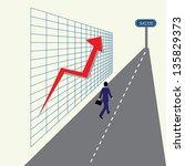 business man running down the... | Shutterstock . vector #135829373