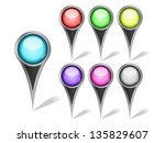 set of vector map marker icons. ...