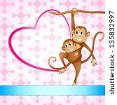 vector illustration of monkey... | Shutterstock .eps vector #135832997