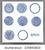 set of sketch circles. vector...