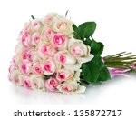 Rose Flowers Bouquet Isolated...