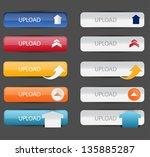 upload button set   Shutterstock .eps vector #135885287