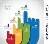 pointing hands infographic... | Shutterstock .eps vector #135885917