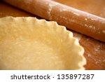 Homemade Pie Crust In Pie Plat...