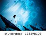 satellite dish transmission... | Shutterstock . vector #135898103