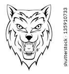 wolf howling | Shutterstock .eps vector #135910733
