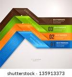 modern infographic template for ... | Shutterstock .eps vector #135913373