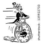 penny farthing high roller  ... | Shutterstock .eps vector #135922733