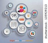 abstract 3d template   Shutterstock .eps vector #135929213