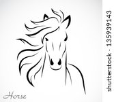 Vector Image Of An Horse On...