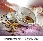 crockery  food  tableware | Shutterstock . vector #135947903