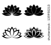 Four Lotus Silhouettes For...