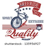 freeride bike | Shutterstock .eps vector #135956927