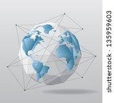 white globe geometrical... | Shutterstock .eps vector #135959603