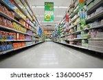 bangkok   april 14  aisle view... | Shutterstock . vector #136000457