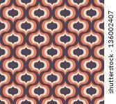 seamless vector art geometric... | Shutterstock .eps vector #136002407