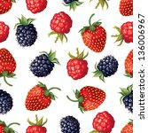 seamless pattern of realistic... | Shutterstock .eps vector #136006967
