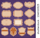 Vintage Frame Labels Set Vector - stock vector