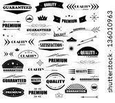 vintage design elements. labels ... | Shutterstock .eps vector #136010963