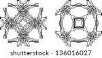 calligraphic frames | Shutterstock .eps vector #136016027
