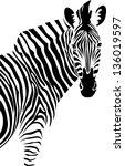 zebra. vector. | Shutterstock .eps vector #136019597