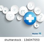 medical background | Shutterstock .eps vector #136047053