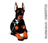angry,animal,animal themes,background,bad,breed,cartoon,doberman,doberman pinscher,dog,domestic,domestic animal,eyes,growl,illustration