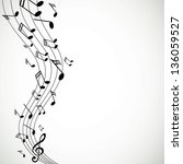 vector illustration of music...