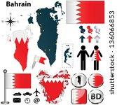 vector of bahrain set with... | Shutterstock .eps vector #136066853