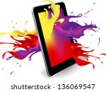 magical color splash from... | Shutterstock .eps vector #136069547