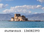 bourtzi castle  nafplio  greece | Shutterstock . vector #136082393