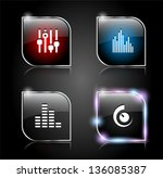 set of glass buttons for web....   Shutterstock .eps vector #136085387