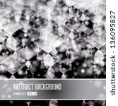 vector shiny silver abstract... | Shutterstock .eps vector #136095827