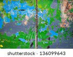 old grunge painted wood used as ... | Shutterstock . vector #136099643